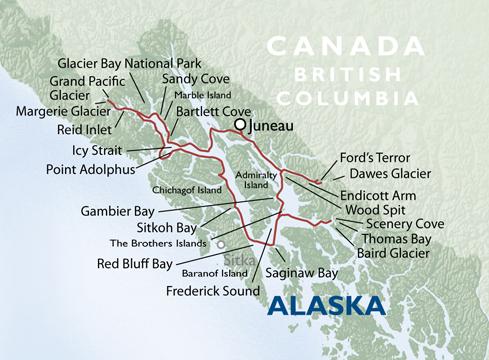 Frederick Sound Alaska Map.Alaska Map